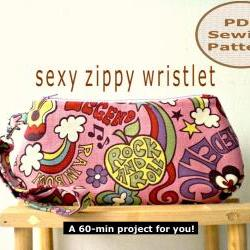 Sexy Zippy Wristlet - PDF Bag Sewing Pattern