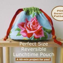 Drawstring pouch - pdf bag sewing pattern